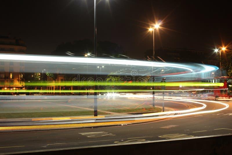 London Traffic Light Streak Editorial Stock Image
