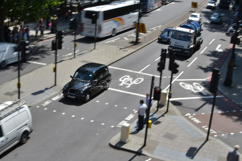 London trafik arkivfoton