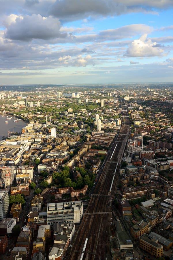 London Train line off into the horizon. London Bridge Train line off into the horizon royalty free stock image
