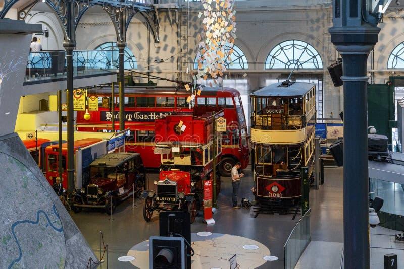 London transportmuseum arkivbild