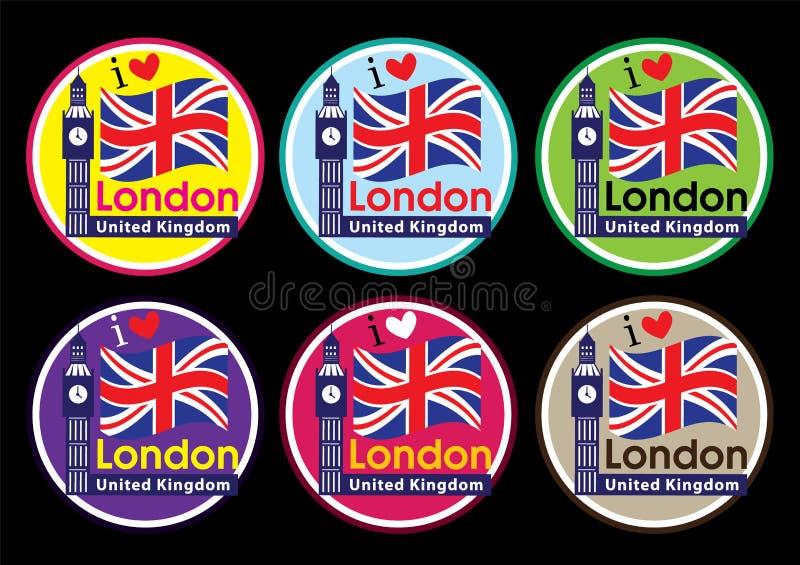 London Travel Icon Set Royalty Free Stock Photography