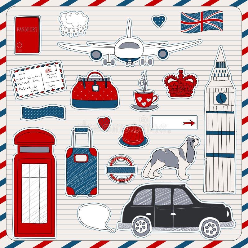 London Travel Icons Stock Photos