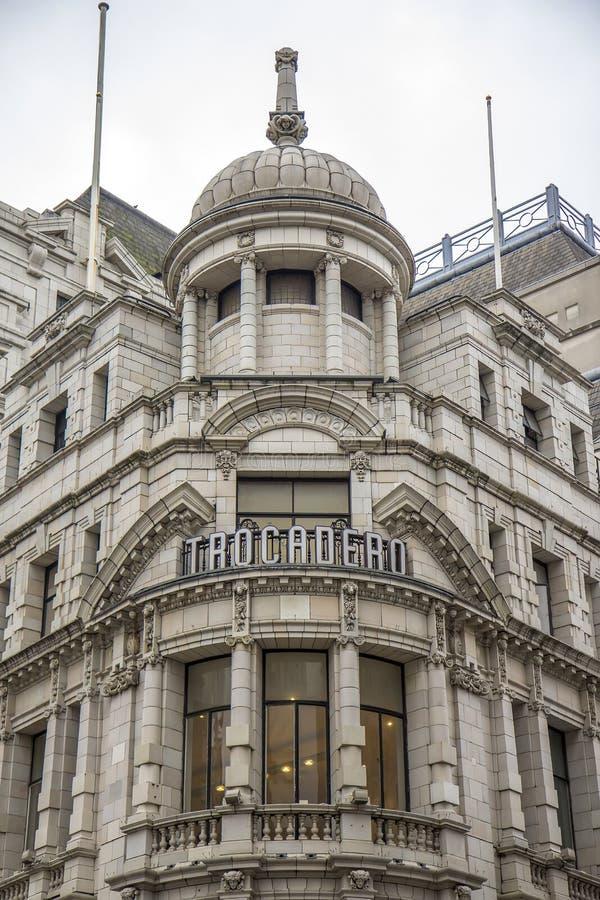 London Trocadero royaltyfria foton