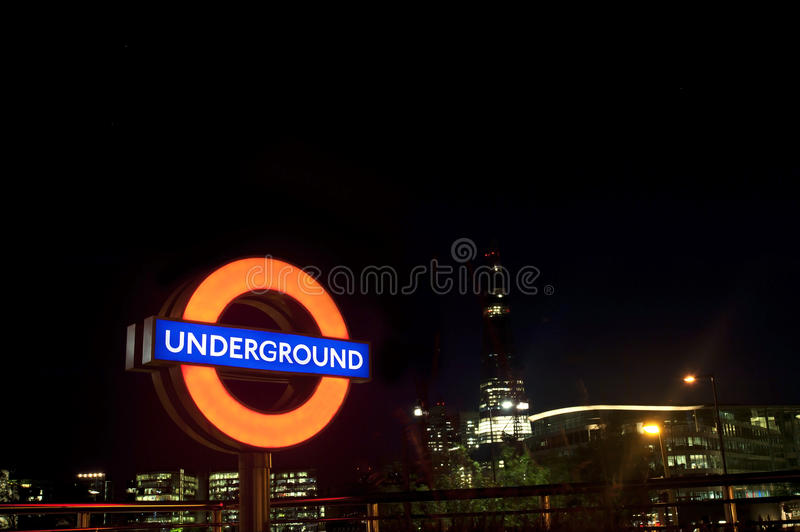 Download London Tube Sign editorial stock photo. Image of underground - 25281253