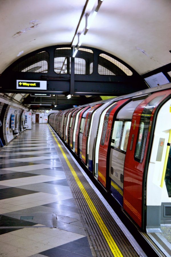 london tubki metro obraz stock