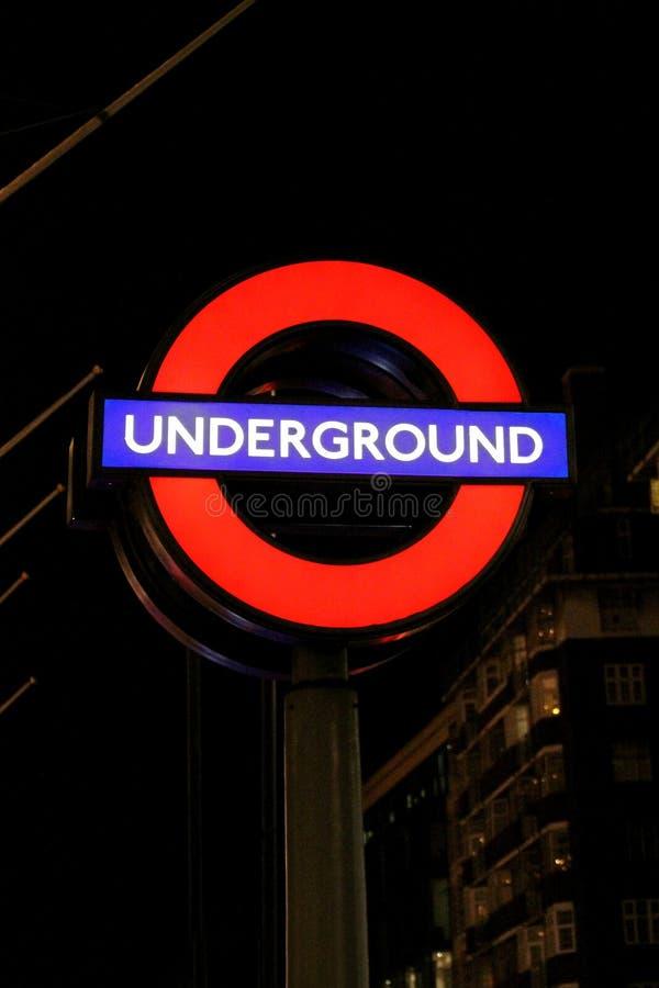 London tunnelbana arkivfoto
