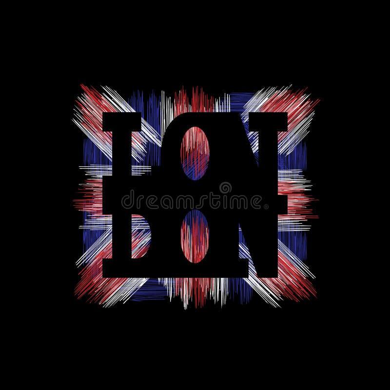 London Typography Graphics. T-shirt fashion Design. vector illustration