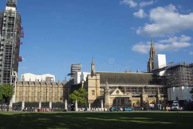 London, U.K., August 22, 2019 - Big Ben under construction, London royalty free stock photo