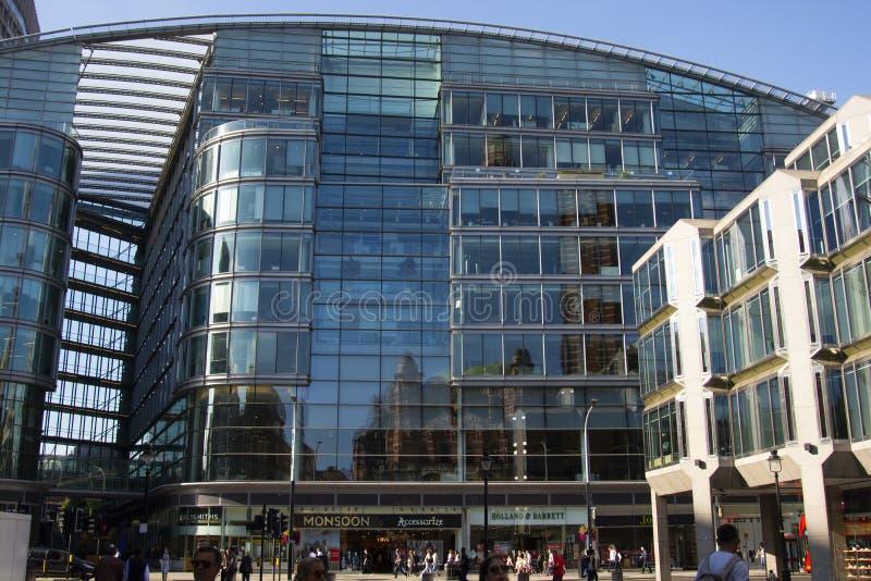 London, U.K., August 22, 2019 - Glass skyscraper business office, corporate building in London City. London, U.K., August 22 2019 - Glass skyscraper business royalty free stock images