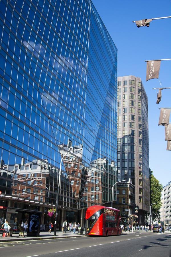 London, U.K., August 22, 2019 - Glass skyscraper business office, corporate building in London City. London, U.K., August 22 2019 - Glass skyscraper business stock photography