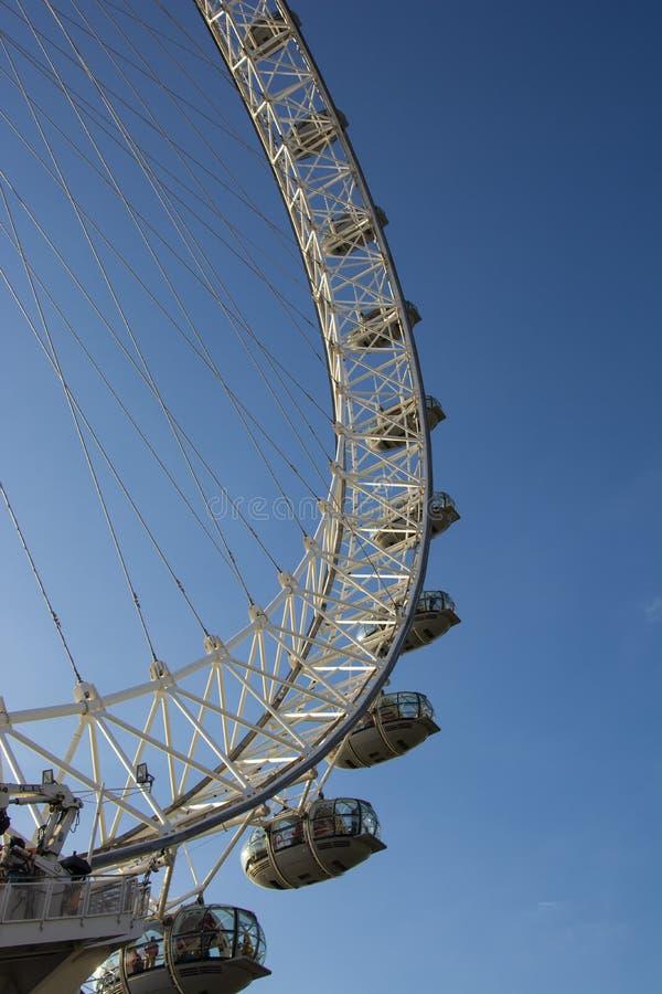 London, U.K., August 22, 2019 -London Eye cabin of a wheel stock photo