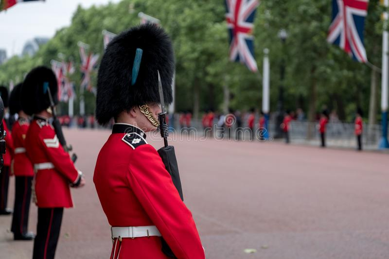 Royal Guard Soldiers Having An Intimate Conversation During The