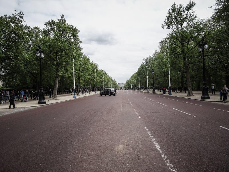 London, UK ; Apr, 30, 2018; Looking down The Mall towards Buckingham Palace, London, England stock photography