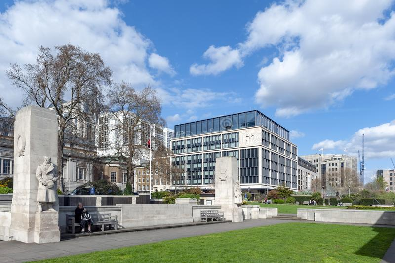 The Tower Hill Memorial located at Trinity Square, on Tower Hill in London, England stock photos