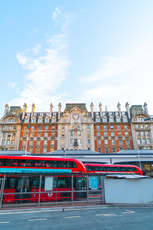 LONDON,UK - AUGUST 27,2019 : Victoria Station, one of the busiest train stations in London. UK stock photos