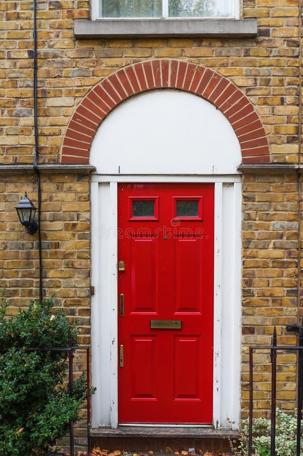London, UK - Beautiful Typical Red Georgian Wooden Front Door Stock ...