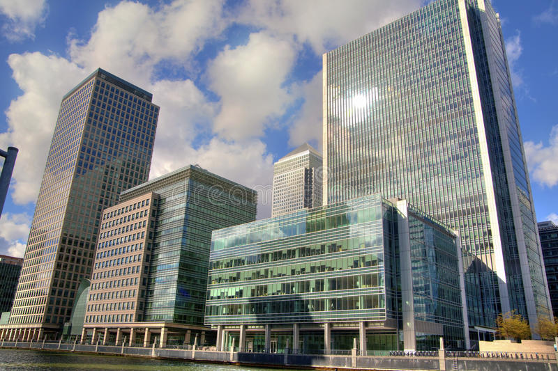 LONDON, UK - CANARY WHARF,  HDR