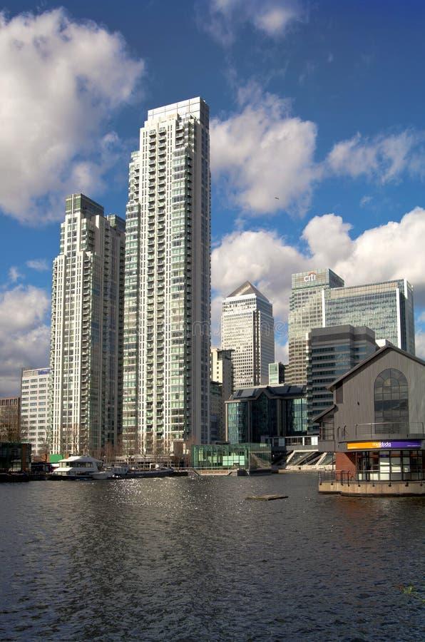 LONDON, UK - CANARY WHARF, MARCH 22, 2014 royalty free stock photos