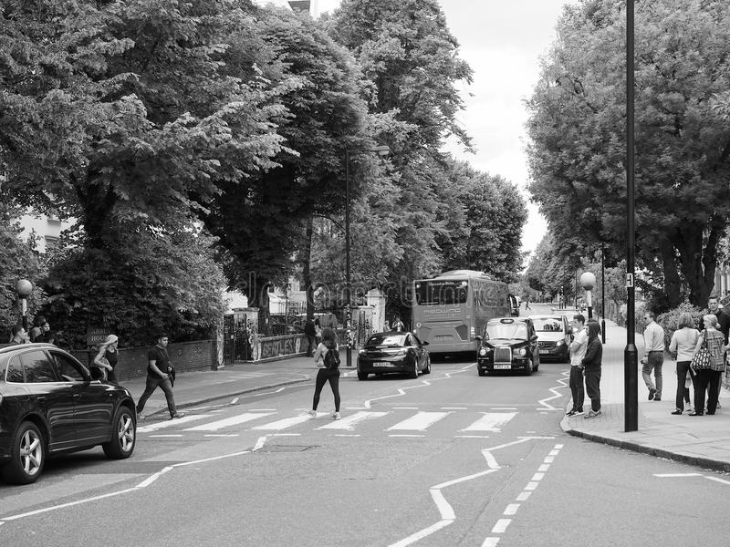 Abbey Road Crossing In London Black And White Editorial Image