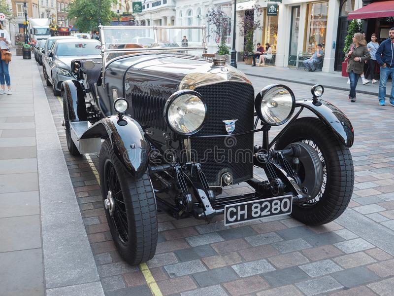 1929 Bentley 4 1/2 Litre vintage car in London stock photography