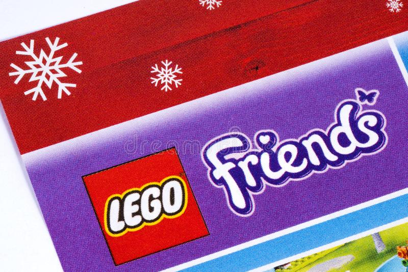 Lego Friends Logo in a Catalogue stock image