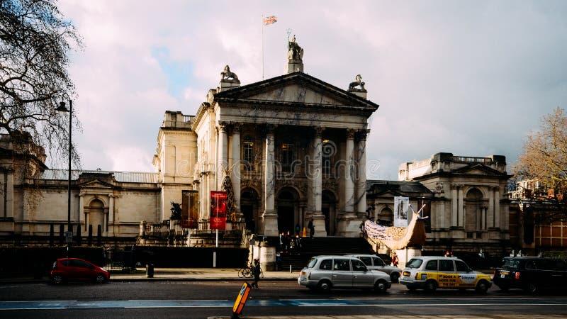 Exterior of Original Tate Gallery, now renamed as Tate Britain, London, UK royalty free stock photos