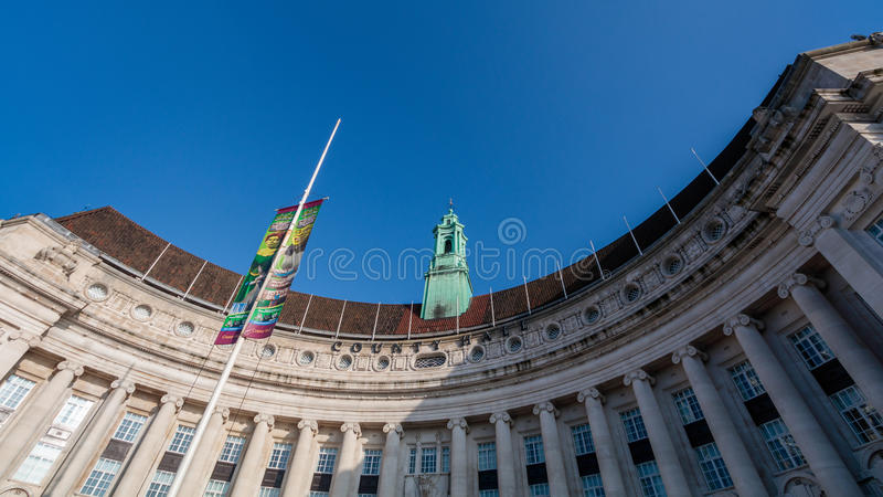LONDON/UK - FEBRUARY 13 : Old County Hall Building on the Southbank of the River Thames in London on February 13, 2017 stock photos