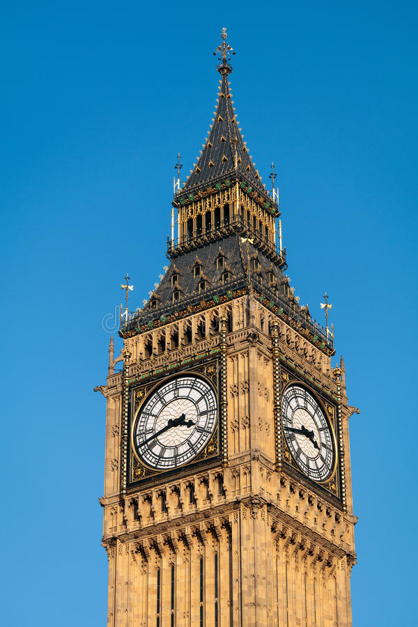 LONDON/UK - FEBRUARY 13 : View of Big Ben on a Sunny Day in London on February 13, 2017 royalty free stock photo