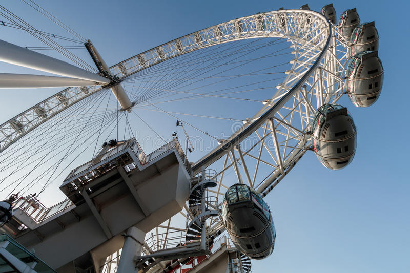 LONDON/UK - FEBRUARY 13 : View of the London Eye in London on Fe. Bruary 13, 2017. Unidentified people royalty free stock photography