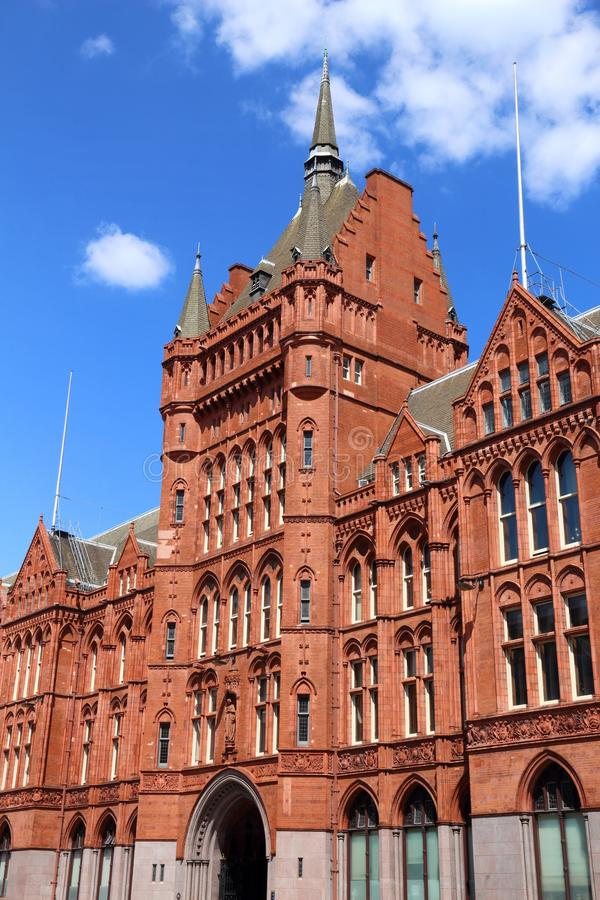 Holborn, London. London, UK - Holborn Bars building. Grade II listed Victorian terracotta building stock image