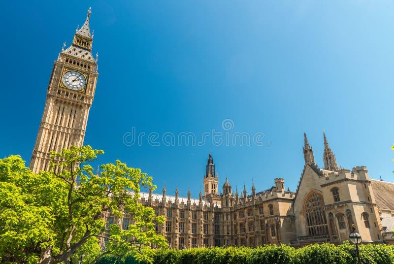 london uk Hus av parlamentet på en härlig sommardag royaltyfria foton