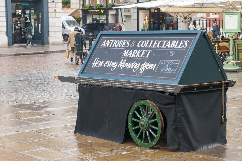 The antiques and collectable market in Covent Garden, London royalty free stock image