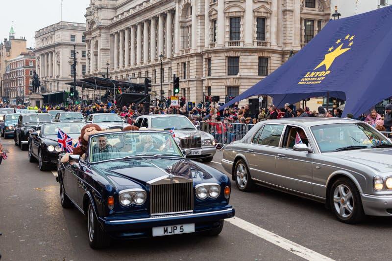 London`s New Year`s Day Parade 2020. LONDON, UK - January 01, 2020: London`s New Year`s Day Parade 2020 royalty free stock photos