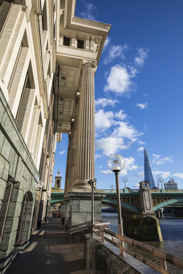Vintners Place on the Thames Path in London royalty free stock image