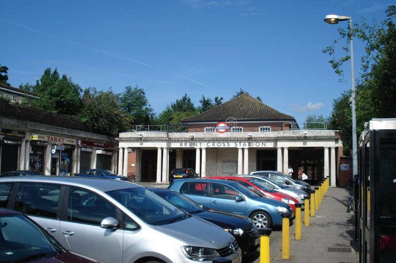 London, UK - July 22, 2012: Brent Cross underground station located in north-west London. royalty free stock photos