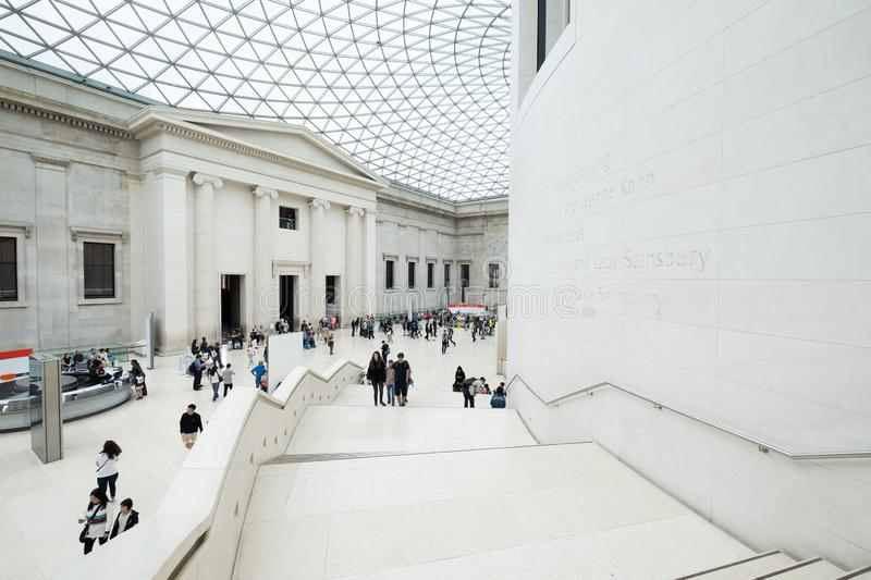 The Great Court at the British Museum in London stock images
