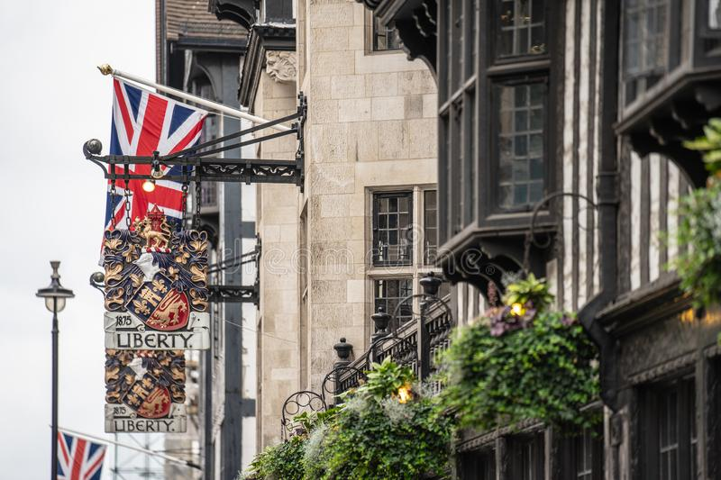 London, UK, July 14, 2019. Liberty, commonly known as Liberty`s, is a department store in Great Marlborough Street, in the West. London, UK, July 14 , 2019 royalty free stock photography