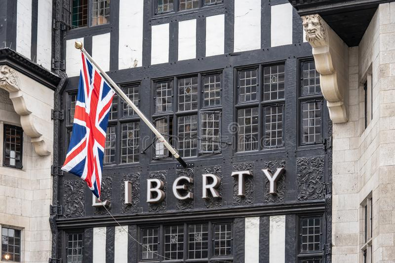 London, UK, July 14, 2019. Liberty, commonly known as Liberty`s, is a department store in Great Marlborough Street, in the West. London, UK, July 14 , 2019 royalty free stock photos