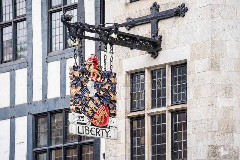 London, UK, July 14, 2019. Liberty, commonly known as Liberty`s, is a department store in Great Marlborough Street, in the West. London, UK, July 14 , 2019 royalty free stock images
