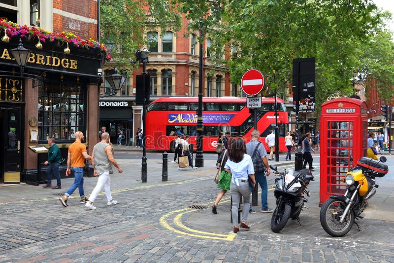 London Soho stock images