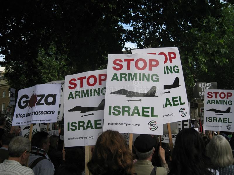 London UK - 05 June, 2018: People at Free Palestine – Stop the royalty free stock image