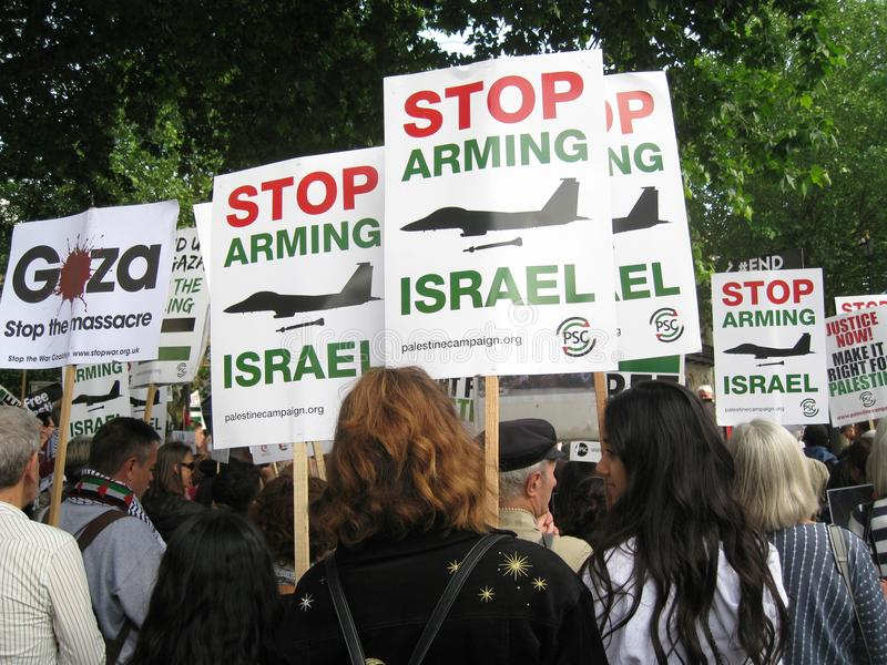 London UK - 05 June, 2018: People at Free Palestine – Stop the stock images