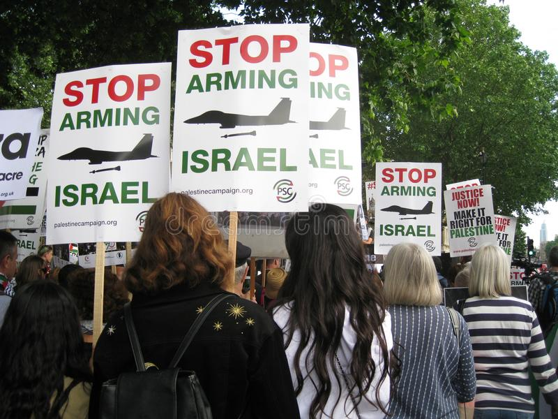 London UK - 05 June, 2018: People at Free Palestine – Stop the royalty free stock images