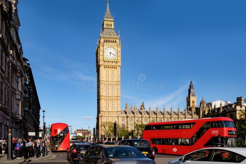 LONDON UK - Maj 21, 2017: Hus av parlamentet, Westminster arkivfoto