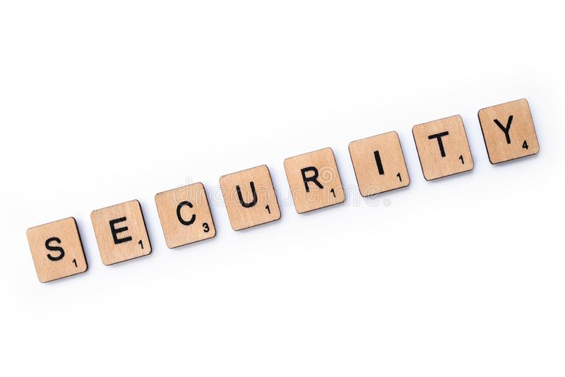 The word SECURITY stock photography
