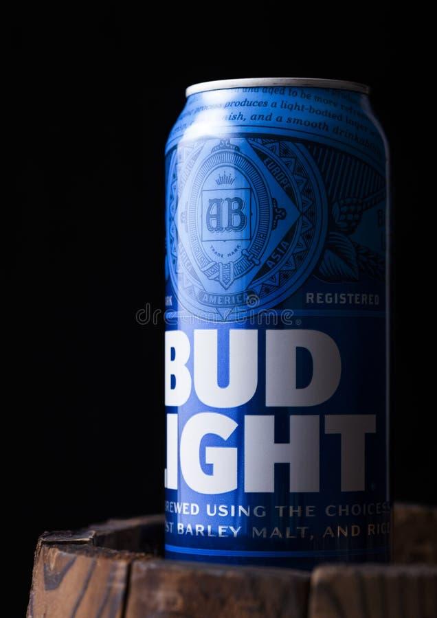 Download LONDON, UK   MAY 03, 2018: Aluminium Tin Of Budweiser Bud Light