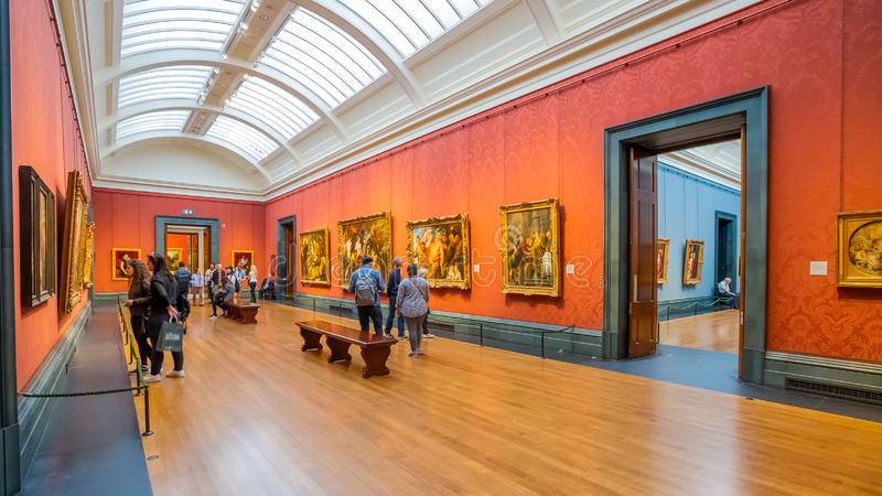 The National Gallery in London, UK royalty free stock image