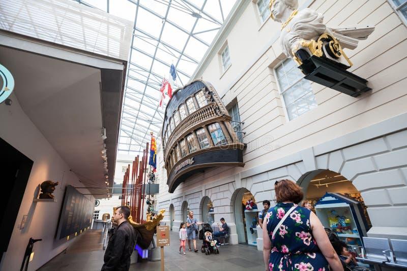 LONDON, UK, National Maritime Museum in Greenwich, interior details. 21. 07. 2015, LONDON, UK, National Maritime Museum can be visited in Greenwich, interior stock photos