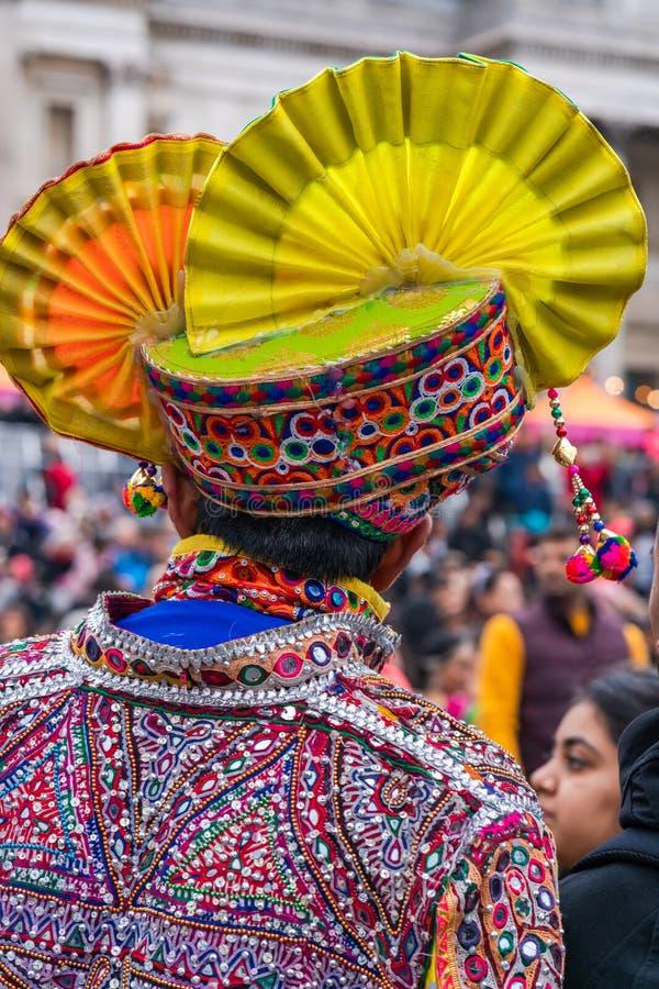 Diwali celebrations in London, UK stock image