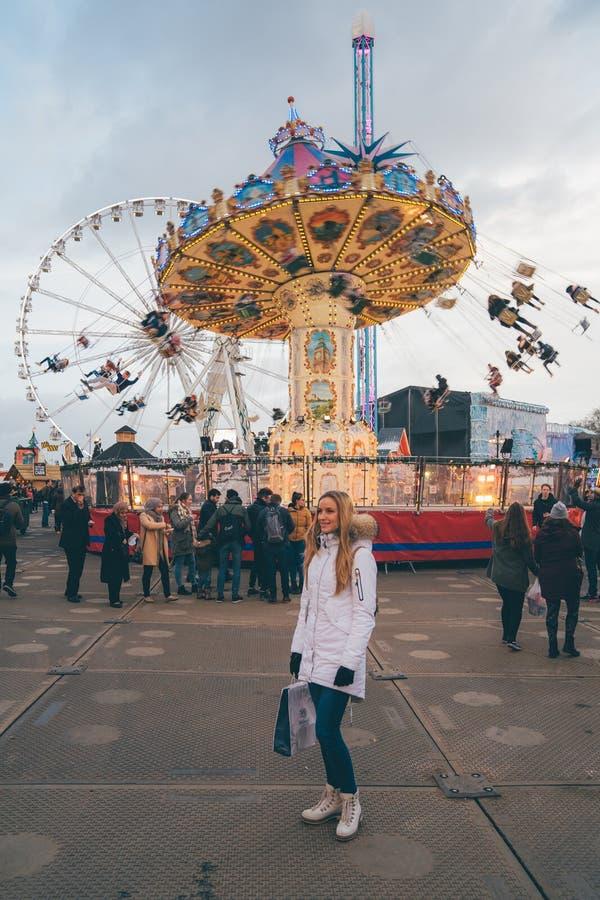LONDON UK - NOVEMBER 30, 2014 - Leicester fyrkantig traditionell fu royaltyfri fotografi
